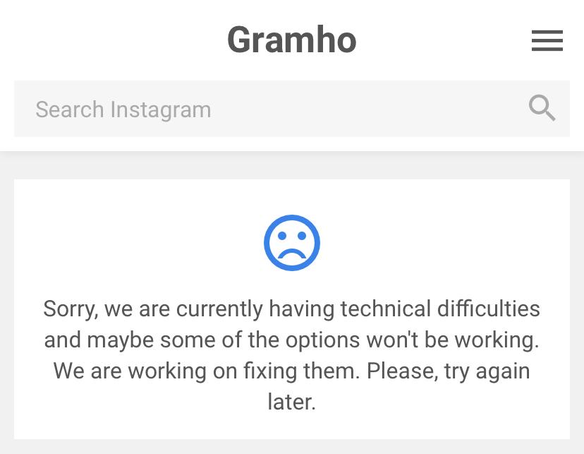 Gramhoが使えない場合がある