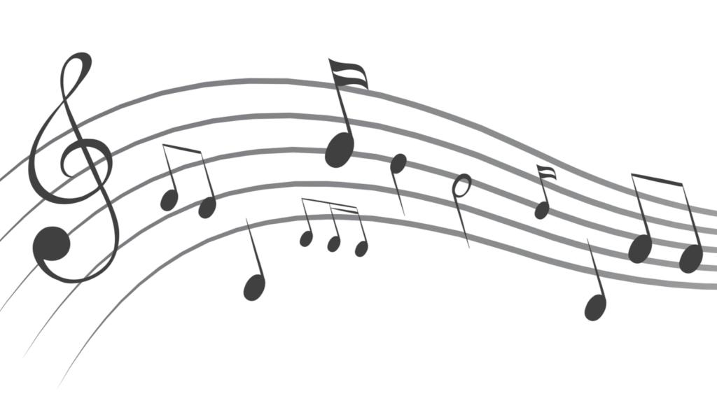 楽譜が書かれている